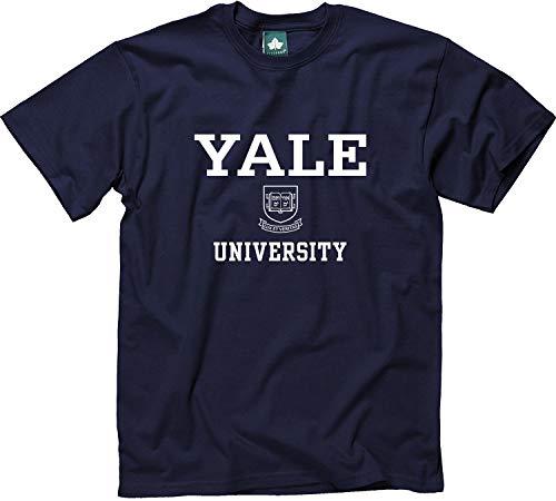 Ivysport Yale University Short-Sleeve T-Shirt, Crest, Navy, Small