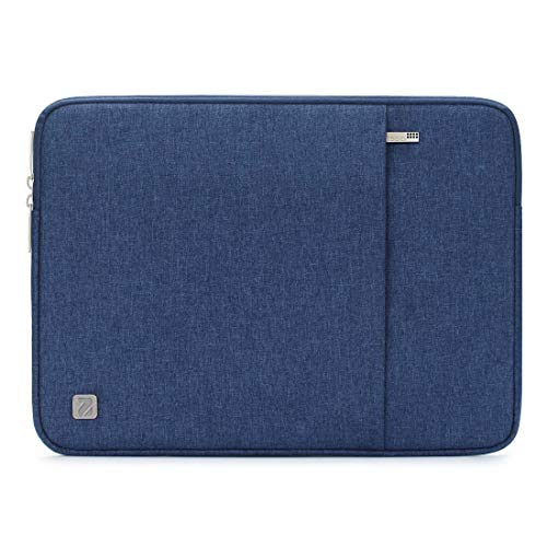 NIDOO 15 Inch Water-Resistant Laptop Sleeve Case Protective Bag Portable Carring Pouch For 15' 16' MacBook Pro / 15' Surface Book 2 3/15' Notebook 9 Pro / 14' Ideapad 330/15' New XPS 15,Blue