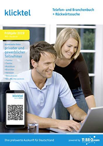 klicktel Telefon- und Branchenbuch + Rückwärtssuche Frühjahr 2019