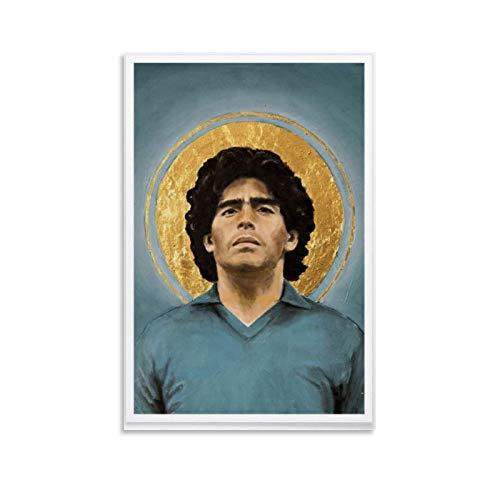 WETUO Maradona Napoli - Stampa artistica su tela e stampa artistica da parete moderna per camera da letto, 20 x 30 cm