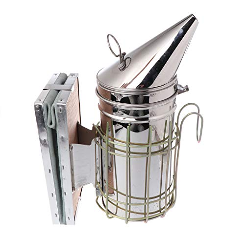 Junlinto, Edelstahl-Rauchmelder für Bienenraucher mit Bienenraucherkraftstoff, Ausrüstung für...