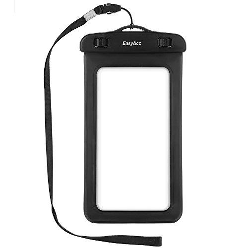 EasyAcc Pochette Étanche, 5.8 Pouce Universel Etui Imperméable Housse Étanche Coque Transparente Touche Sensible pour iPhone6/6S, iPhone 7/7Plus,Samsung Galaxy S7/S7 Edge/S8 etc