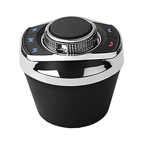 balikha Forma de Taza 8 Teclas función Volante inalámbrico de Coche Control Remoto Botón de Medios Bluetooth Audio Adaptador Controlador con luz LED