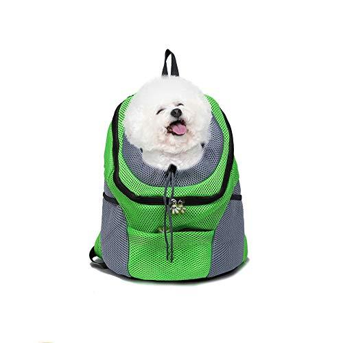 AISENPARTS Pet Puppy Dog Cat Carrier Mochila Travel Tote Doble Bandolera Mesh Sling Carry