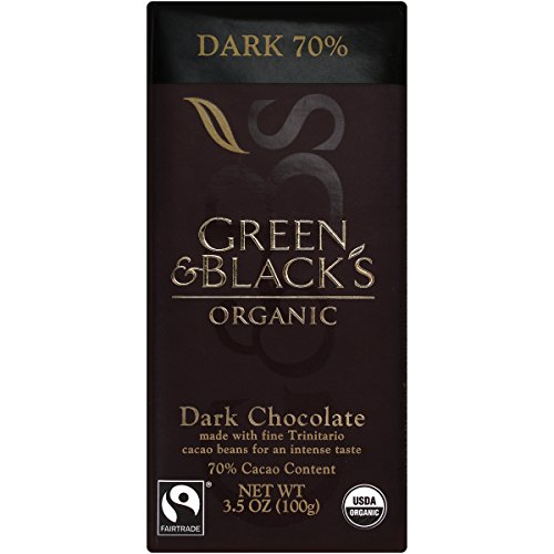 Green & Black's Organic Dark Chocolate 70% Cacao, OLD 10 Count