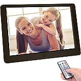 letaocity 10 pollici cornice digitale, cornice per telecomando ad alta definizione (1920x1080) supporta foto/musica/video/calendario/sveglia