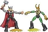 Avengers Figura de acción de Thor vs. Loki de 15cm de Marvel Bend and Flex, para niños a Partir de 4 años