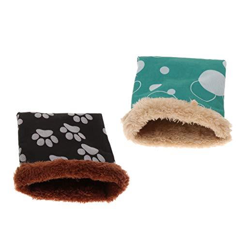 joyMerit 2er Set Kuschelsack Kuschelhöhle Kleintier Schlafsack für Hamster Meerschweinchen Frettchen Chinchilla Eichhörnchen Ratten Mäuse - S
