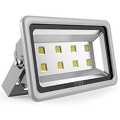 SOUTHLEVY LED Flood Light 400W, IP66 Waterproof Outdoor Landscape Floodlight, 6000K Daylight White Super Bright Work Light for Garden, Yard, Playground