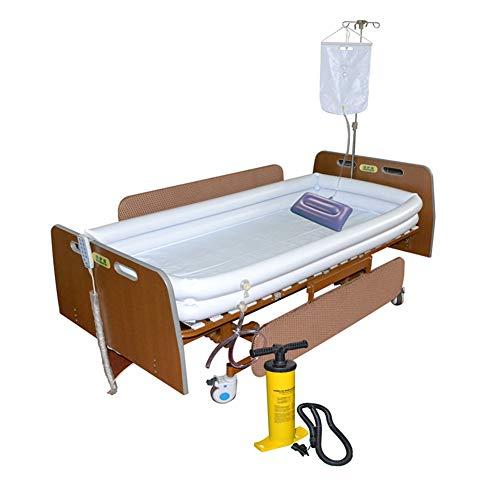 Bañera Para Discapacitados, Ayudas De Baño Inflables Médicas De PVC Para Adultos, Con Bomba + Bolsa De Agua De Ducha + Almohada Inflable, Para Pacientes Encamados Que Se Bañan Fácilmente En La Cama