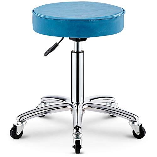 Wangxn Kruk met wielen, professionele massage voor schoonheidssalon, spa-stoel, draaibaar, gaslift, manicure, tattoo, kruk, stoel