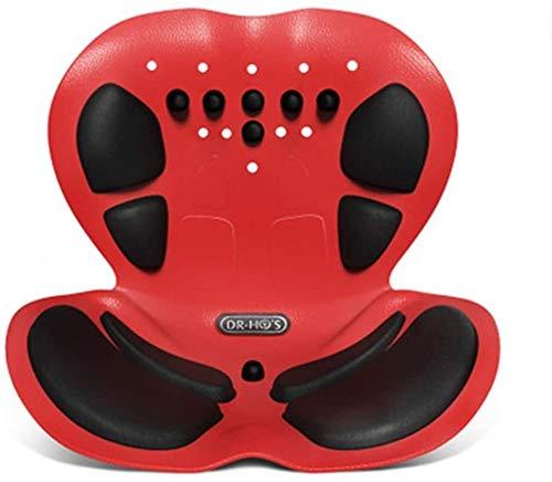 WKDZ Sitzende Haltung korrigiersitz, lumbal Back Support Auto Stuhl saugfähige Pads Sitz Kissen Sitting Position korrektur Pads für sitzemittel Essen Stuhl Hause draußen 1230 (Color : Red)