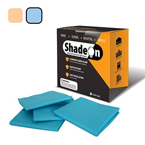 ShadeOn Fluorescent Light Diffuser-Covers (4-Pack) Classroom Light Filters for Ceiling Light 2x4 -...