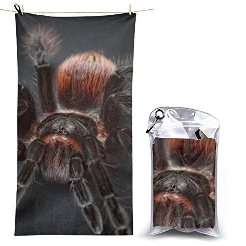 beibao Toallas de baño Pureny Tarantula Arachnophobia Spider Toalla de Camping de Secado rápido Toalla de Playa compacta de Alta absorción para Gimnasio Mochilero Senderismo 70x130cm