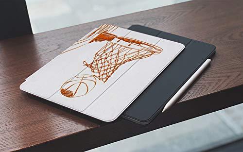 Funda para iPad 10.2 Pulgadas,2019/2020 Modelo, 7ª / 8ª generación,Resumen Puntuación Puntos ganadores Baloncesto individual Recreación deportiva en 3D Smart Leather Stand Cover with Auto Wake/Sleep