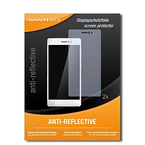 SWIDO Schutzfolie für Oppo R5 [2 Stück] Anti-Reflex MATT Entspiegelnd, Hoher Festigkeitgrad, Schutz vor Kratzer/Bildschirmschutz, Bildschirmschutzfolie, Panzerglas-Folie