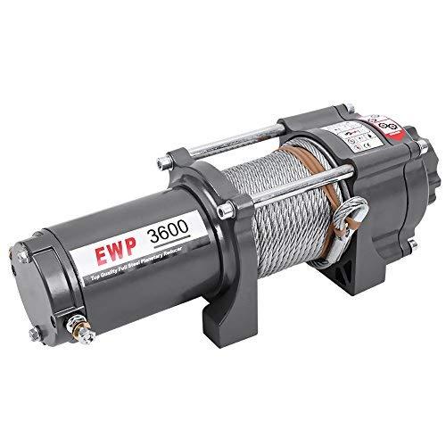 Cabrestante eléctrico, 12V 1633Kg/ 3600LB Cabestrante Cabrestante Electrico Winch para camión, barco, ATV