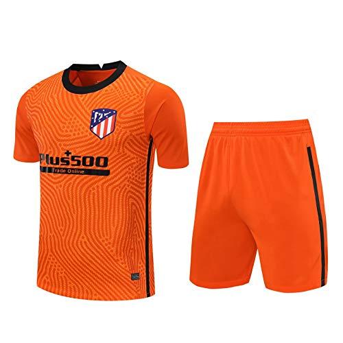 Qinmo 2021 NUEVOS Jerseys de fútbol, Atlético Soccer Club Men's Traje de los Hombres Conjuntos Sportswear Set Short Manga Top y Shorts para el Verano (Size : S)