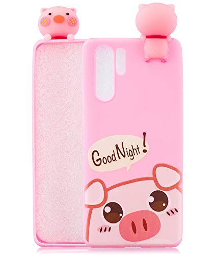TopFunny Cases for Galaxy Note 10 Plus Case, Samsung Note 10+ 5G Silicone 3D Cute Cartoon Soft TPU Slim Fit Bumper Protective Gel Cover Case Compatible with Samsung Galaxy Note 10 Plus 5G Print Pig
