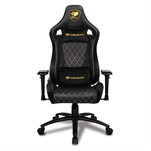 COUGAR Gaming Armors Royal sedia gaming, Camoscio e Simili Pelle, Nero, Medio