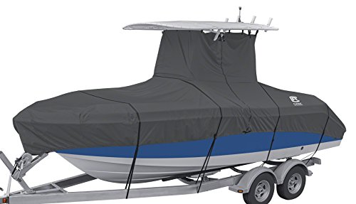 "Classic Accessories StormPro Heavy Duty Center Console T-Top Roof Boat Cover, For 22'-24' Long, up to 116"" Beam Width"