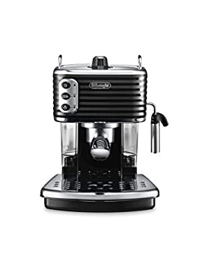 De'Longhi Scultura Traditional Barista Pump Espresso Machine, Coffee and Cappuccino Maker, ECZ351BK, Black