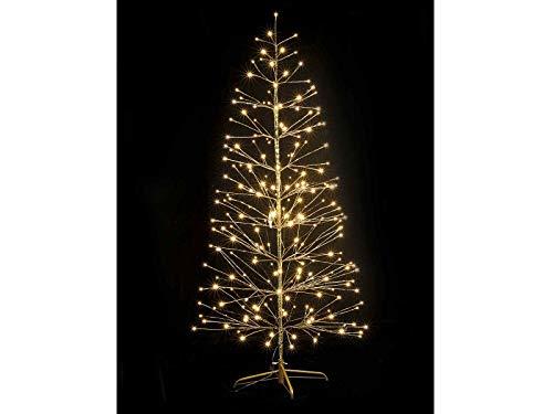 Gruppo Maruccia Albero di Natale Luminoso Effetto Dorato con 232 LED 1,80 Metri per Interni ed Esterni