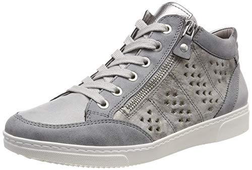 Jenny Damen Seattle 2254721 Hohe Sneaker, Grau (Grey/Peeble,Silber/Titan 75), 41.5 EU