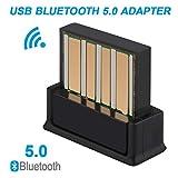 Innovateking-EU Adaptador USB Bluetooth 5.0 para Ordenador portátil, Compatible con Windows 10, 8.1, 8 y 7 XP Vista