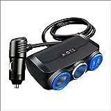 HBOY Mini Cargador de Coche, Adaptador de Encendedor de Cigarrillos de 12V / 24V con Puertos USB Dual de 5V 3.4A, Carga rápida Compatible con Todo teléfono Inteligente,Negro