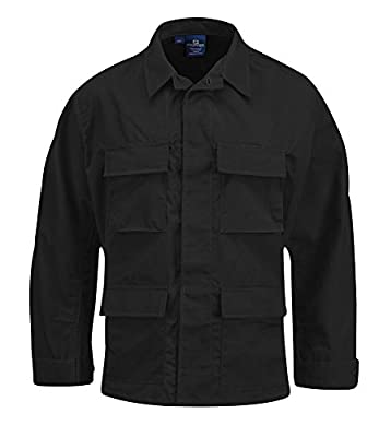 Propper Men's Bdu Coat - 100% Cotton, Black, x Large Long
