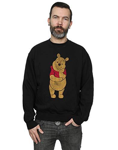Disney Men's Winnie The Pooh Classic Pooh Sweatshirt Black Large