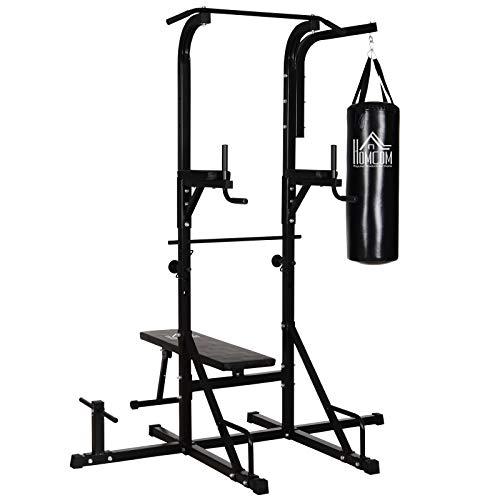 Station de Musculation Fitness Entrainement Complet - Barre de Traction, à dips, Banc de...