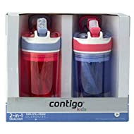 Contigo Kids 2 and 1 Snack Hero Kids Tumbler and Snack Cup- 13 oz - 2 pack - (Purple-Red)