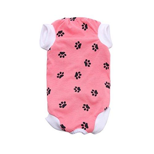 UEETEK Medical Pet Shirt Recovery Anzug für Hunde für Operation Tragen (Pink), L, Rose