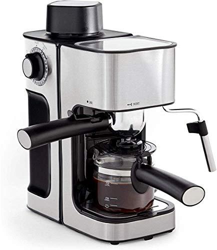 ZKAIAI Espresso Cafetera Cafetera, 5 Bar 240ml, leche espumejea Wand, bandeja de goteo extraíble Barista café del estilo de la máquina