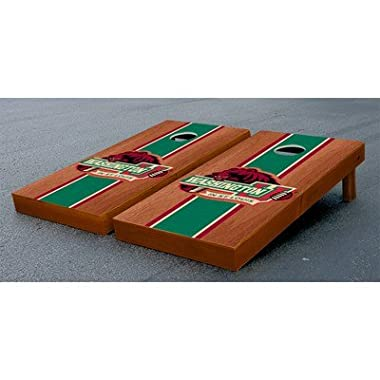 Victory Tailgate Michigan State Spartans Regulation Cornhole Game Set Onyx Stained Stripe Version