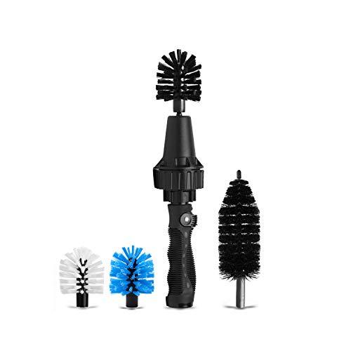 Car Wheel Brush, Premium Automotive Detailer and Tire Brush Cleaning Kit for Bikes, Engines, Trucks, Equipment, Exhaust Tips, Premium Water-Powered Multi-Purpose Rim Brush from Brush Hero