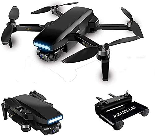 BD.Y Drone, 5KM GPS Drone con cámara 6K 5G WiFi FPV Drone Contiene Gafas VR 35mins Electronic PTZ Professional Brushless Motor RC Quadcopter 3Battery