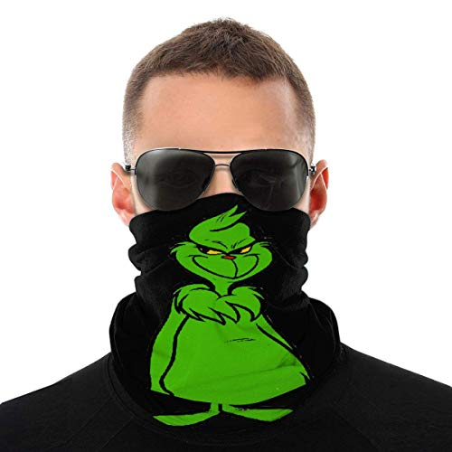 The Grinch Balaclava Variety Head Scarf Unisex Soft Windproof Headband for Sports Hiking
