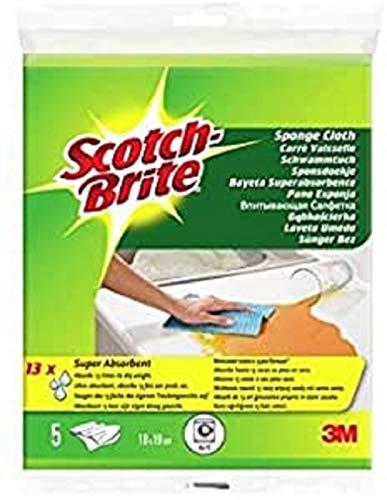 Scotch-Brite Pack de 5 Carrés Visselle Bayeta Absorbente, 5 Unidades, 5
