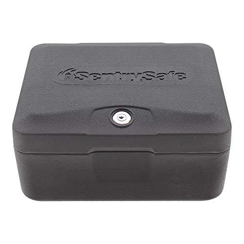 Rottner Feuerschutzkassette Sentry 0500 – 30 min geprüfter Feuerschutz – Zylinderschloss – Sicherheitskassette – Dokumentenbox