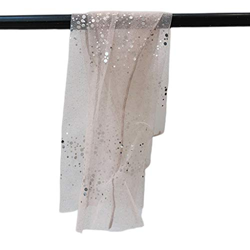 JERKKY Calzini 1 Paio da Donna Calzini con Paillettes Glitter Color Caramella Calze a Rete da Donna Calze Trasparenti in Chiffon di Tulle Rosa Brillante