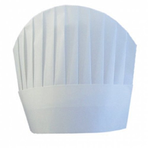 Garcia de Pou 10 Unit de Chef Chapeaux Ronds Dessus en boîte, 23 cm, Airlaid, Blanc, 23 x 30 x 30 cm
