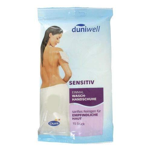 DUNIWELL Einmal Waschhandschuhe sensitiv 15 St