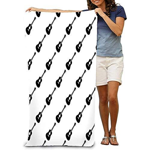 Yocmre grote strandhanddoek, zachte handdoek met uniek ontwerp akoestische gitaar patroon akoestische gitaar patroon worden