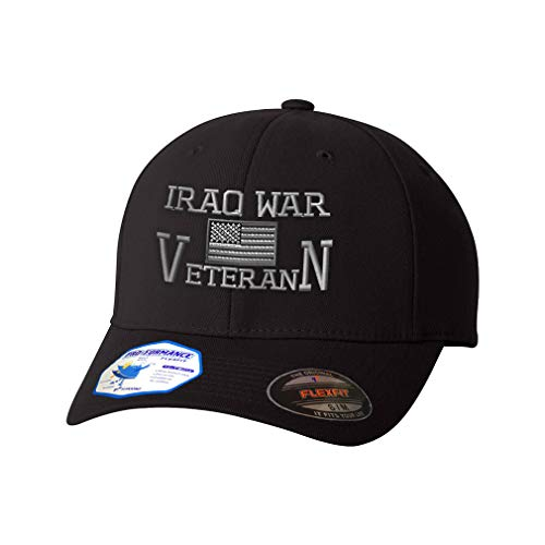 Flexfit Hats for Men & Women American Veteran Iraq War B Embroidery Polyester Dad Hat Baseball Cap Black Large XLarge