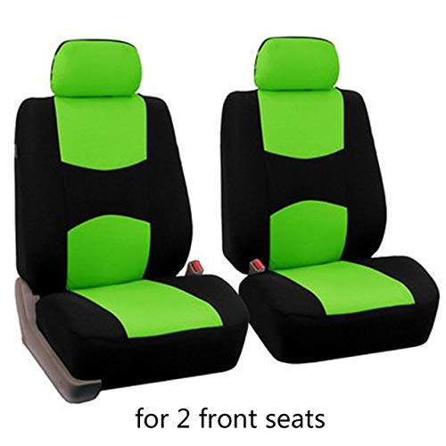 Diommest Auto-Sitzabdeckung, 2 Sitzvordersitze Tuch-Kunst-Protect-Kissen Autos Universell for Kalina Grantar for Lada Priora for Renault Logan (Color Name : A 2pcs Green)