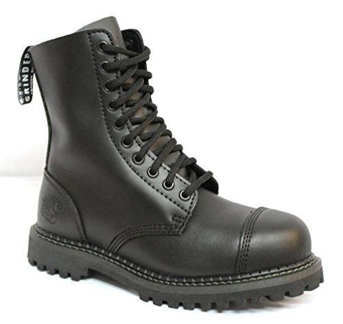Grinders Stag CS Schwarz Herren Unisex Sicherheit Stahlkappe Militär Punk Stiefel 45