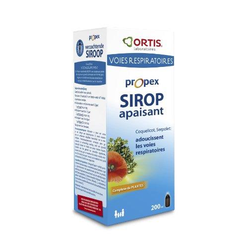 Ortis – PROPEX SIROP Apaisant – Adultes et Enfants + de 12 ans – Action Immunitaire & Respiratoire - grâce aux Sureau et Serpolet + Propolis, Coquelicot, Erysimum